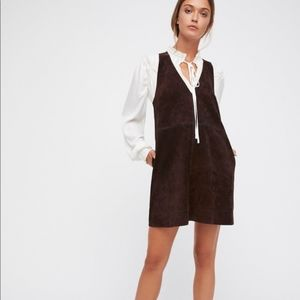 Free People Retro Love Suede Mini Dress